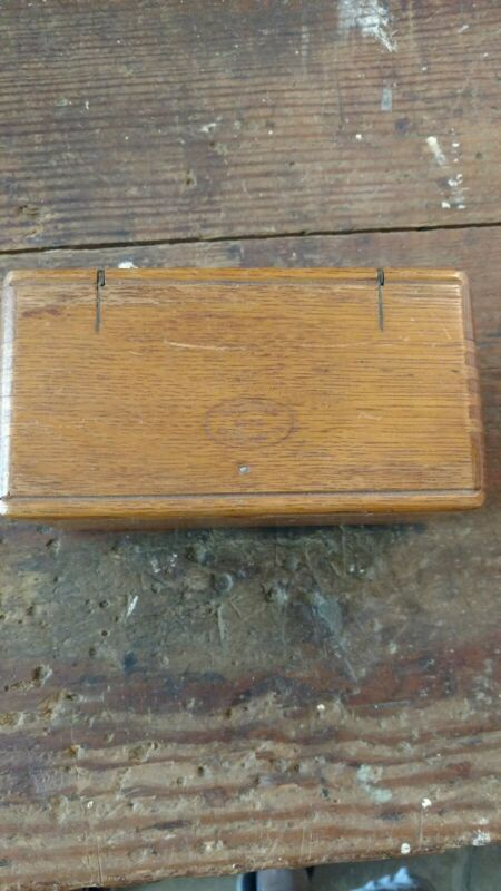 Antique 1889 Singer Sewing Machine Parts Wooden Folding Puzzle Box Attachments