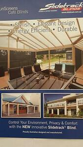 OUTDOOR CAFE ROLLER  BLINDS-**SHADEMESH OR PVC -CLEAR OR TINTED* Charles Sturt Area Preview