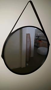Round leather strap mirror Beeliar Cockburn Area Preview