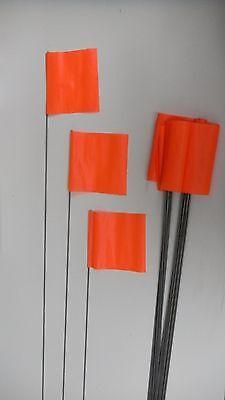 Irwin Survey Stake Flags, Orange (Bundle of 25) 4935206