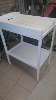 White wooden change table