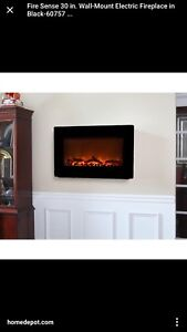 Wall mounted electric fireplace wanted