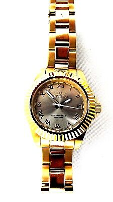 6b0d55ba3f88 Invicta 16762 Women's Gold Plated Watch Pro Diver Gold Dial PC21J 100m