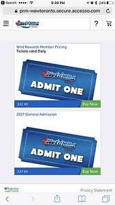 Wet and Wild Tickets x 3