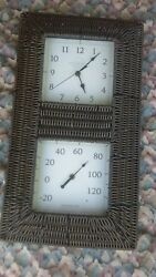 Leicester Square Quartz Clock And Temperature Control  Twin Frame