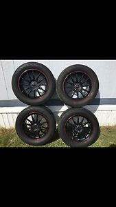 Aftermarket rims with tires 17 inch duel Bolt pattern