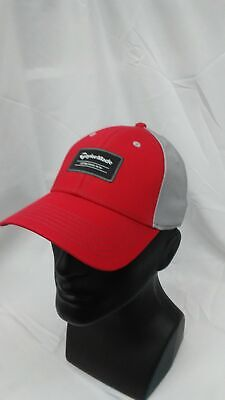 New TaylorMade Golf Color Black Adjustable Hat Red/Grey TaylorMade 1979 Patch ()