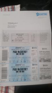 Paul McCartney concert we are in adelaide & cant make the concert
