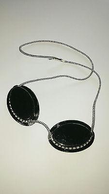 Schutzbrille rot Gummizug Goggles Solarium Augenschutz