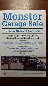 Monster Church Garage Sale Ringwood North Maroondah Area Preview