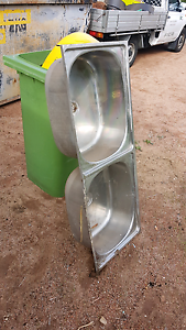 Stainless steel twin tubs. Coolbellup Cockburn Area Preview