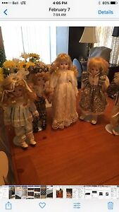 50 PORCELAIN COLLECTABLE DOLLS