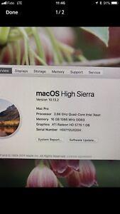 Mac Pro Quad core Build 5.1 running High Sierra