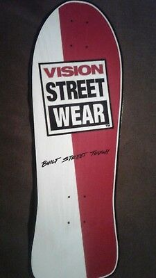 Vision Street Wear replica Skateboard Deck Shaped Sticker over 7""