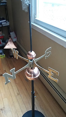 Good Directions Full Weathervane Set-up Polished Copper Balls Brass Directionals