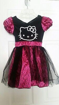 Hello Kitty/SkeleKitty Dress Rubie's Costume Co. Inc size Small Girls Black/Pink