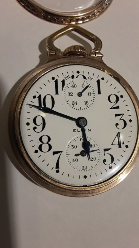 1933 Wind Indicator Elgin B.W. Raymond Grade 478 Pocket Watch 21j, 16s 10K GF