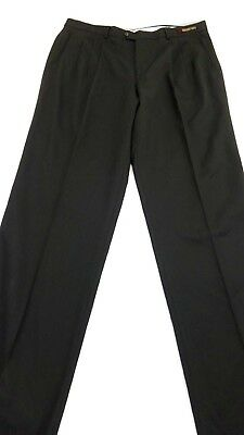 NWT GIORGIO COSANI MEN'S DARK OLIVE PLEATED DRESS PANTS SIZE 40 X 35 UNHEMMED
