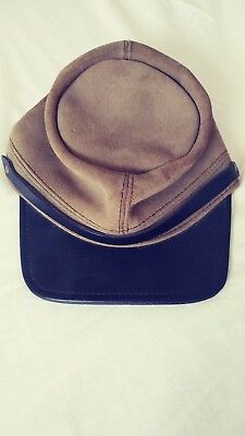 Civil war, cap, hat, kepi, leather, CONFEDERATE SOLDIER MADE IN USA ADJUSTABLE
