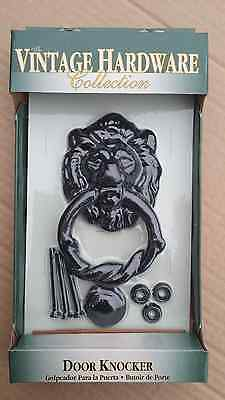 Vintage Hardware Collection Victorian Lion Head Door Knocker Forged Iron NEW