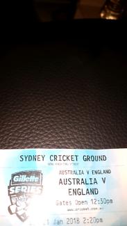 Cricket ticket