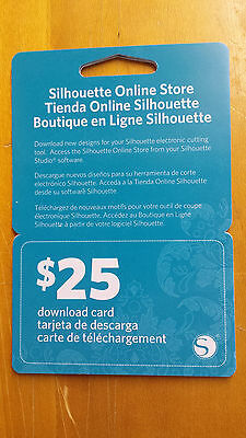 Silhouette Online Store $25 Download Card (Online Craft Stores)