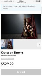 Kratos On Throne 1/4 scale - Super huge! Bedford Bayswater Area Preview