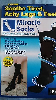 Unisex Anti Fatigue Travel Compression Socks Black