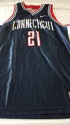 - Nike UCONN Huskies University of Connecticut #21 NCAA  Basketball Jersey 2XL