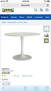 BRAND NEW IKEA DINING TABLE AND CHAIRS