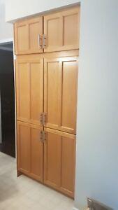 Oak kitchen pantry
