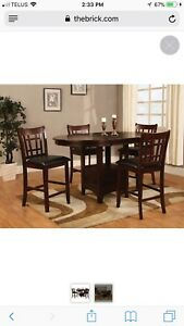 Dalton 5 Piece Chocolate Counter-Height Dining Package