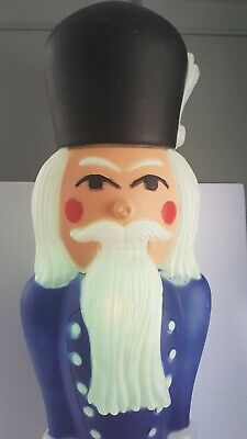 Nutcracker Christmas Blow Mold 39 Inches Vintage