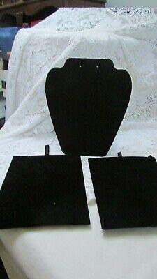 Black Velvet Necklace Jewelry Stands 3