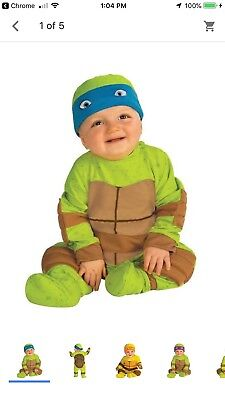 Mutant Ninja Turtle Costumes (0 - 6 Months Teenage Mutant Ninja  Turtle)