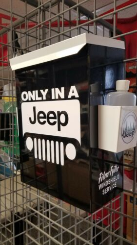 JEEP RETRO VINTAGE ERA TOWEL BOX DISPENSER  ONLY IN A JEEP