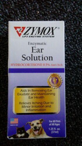 ZYMOX Ear Solution Hydrocortisone 0.5% Inflammation Relief 1.25 oz 37ml Exp 6/23