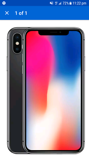 Iphone x 256gb space grey unopened