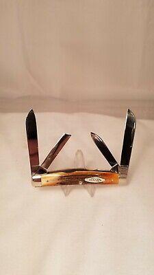 Case XX 54052 Medium 4 Blade Congress Knife Genuine Stag 10 Dot 1970 Mint