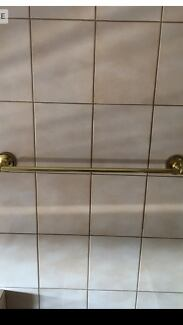 Gold towel rail $10 and gold double hook $5.