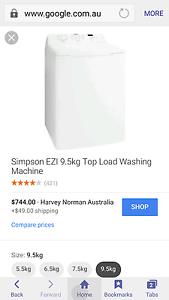 Simpson Washing Machine 9kg top loader Elizabeth Playford Area Preview