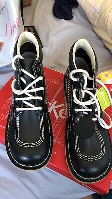 Brand New In Box. Kickers Boots. Size 7/41. Navy Leather.