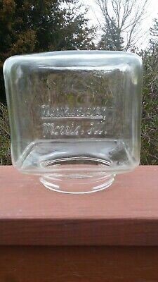 Vintage Northwestern Morris Illinois Glass Top Gumball Candy Nut VENDING