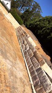 Sandstone Retaining block Walls