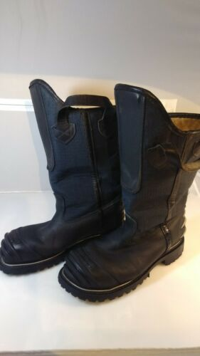 Crosstech Warrington Black Leather Firefighter Boots 5006 5006SG 8.5 D Excellent