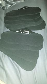 8 x Brand new size 7 black socks