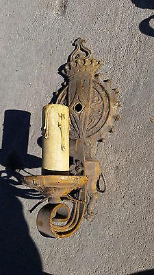 Single  arm painted gear sconce   (LT 436)
