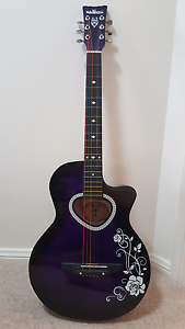 Purple acoustic guitar 3/4 size Mount Annan Camden Area Preview