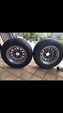 """2X FORD HOTWIRE WHEELS/TYRES 14x7"""" Landsdale Wanneroo Area Preview"""