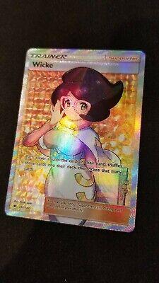 LP FULL ART Pokemon WICKE Card BURNING SHADOWS Set/147 Sun and Moon SM Trainer